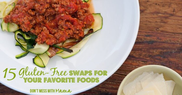 15 Easy Gluten-Free Swaps for Your Favorite Foods #glutenfree - DontMesswithMama.com