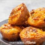 mini quiche muffins on a plate