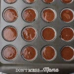 chocolate mix in muffins molds