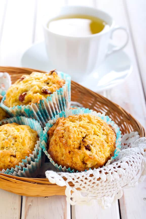 Apple Carrot Raisin Gluten Free Muffins. So easy, delicious and healthy. They muffins make a great breakfast or gluten free treat! Dontmesswithmama.com #glutenfree #muffins #breakfast #dontmesswithmama