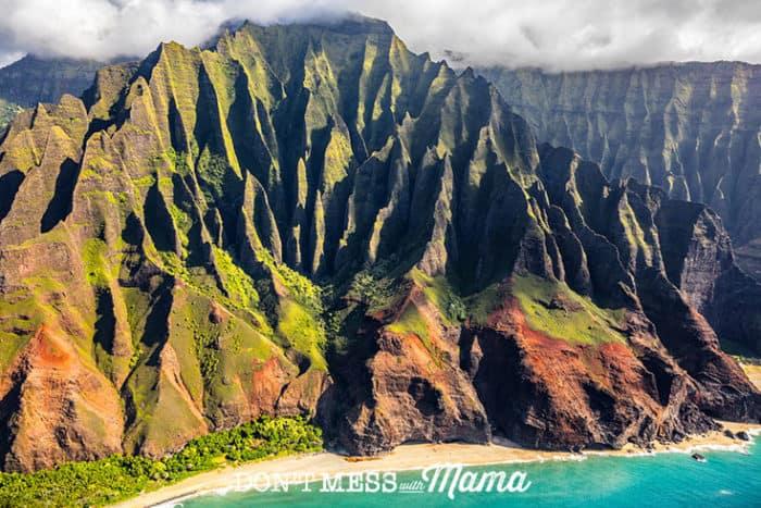Na Pali coast in Kauai