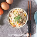 Gluten-Free fried rice in a white bowl