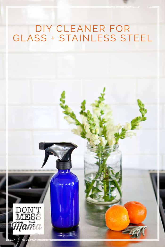 Make this simple, streak-free DIY Glass Cleaner and Stainless Steel Cleaner with just a few ingredients. There's a secret ingredient that will make your ...
