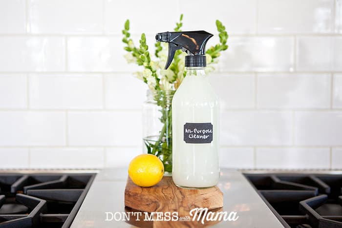 DIY Natural Household Cleaner - make it for pennies compared to store-bought cleaners - DontMesswithMama.com