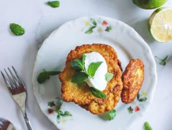 Gluten-Free Zucchini Fritters (Pancakes) #glutenfree - DontMesswithMama.com