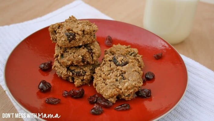 Paleo and Gluten-Free Oatmeal Raisin Cookies - real food recipes - DontMesswithMama.com