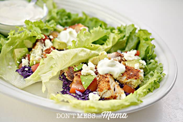 Keto Low-Carb Fish Tacos - easy weeknight meal the whole family will love - DontMesswithMama.com