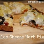 Paleo and Gluten-Free Herb Cheese PIzza