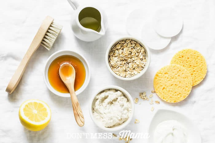 ingredients for homemade skincare recipes