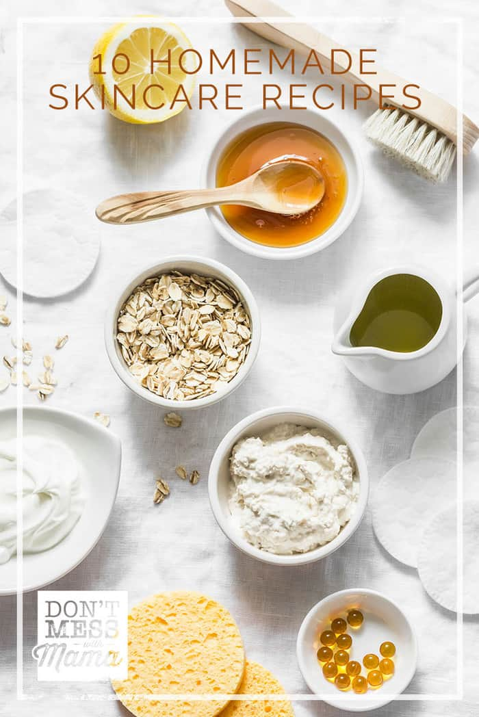 Store-bought skin care products are loaded with chemicals and can be downright expensive. Make these 10 homemade natural skin care recipes instead.