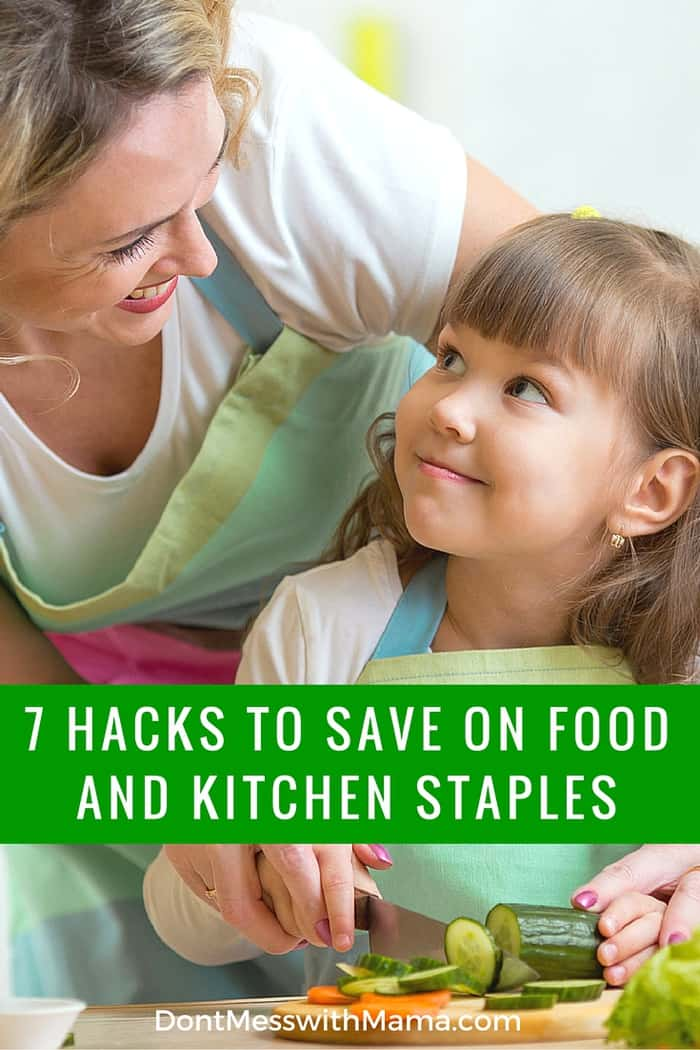 7 Ways to Save on Food and Kitchen Staples - Grocery bills getting expensive? Cut those food bills drastically with these easy tips - DontMesswithMama.com