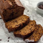 Gluten Free Banana Bread on parchment