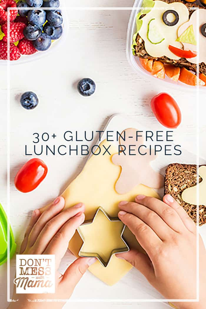 Do your kids get tired of taking the same things over and over in their lunch box? Here are 30+ delicious and simple gluten-free lunch box recipes.
