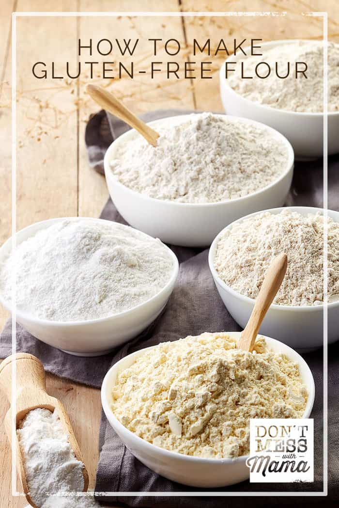 Gluten Free Flour Mix Recipe #glutenfree #recipes - DontMesswithMama.com