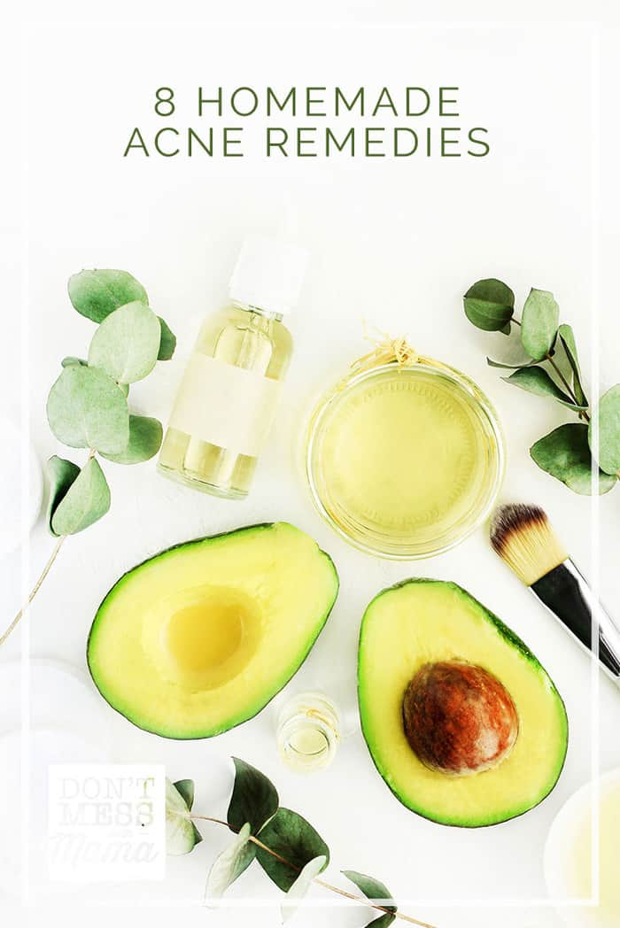 Ditch the harsh store-bought acne treatments loaded with toxic chemicals. Try these 8 homemade acne remedies to get rid of pimples for good. #acne #skincare #homeremedies @dontmesswithmom