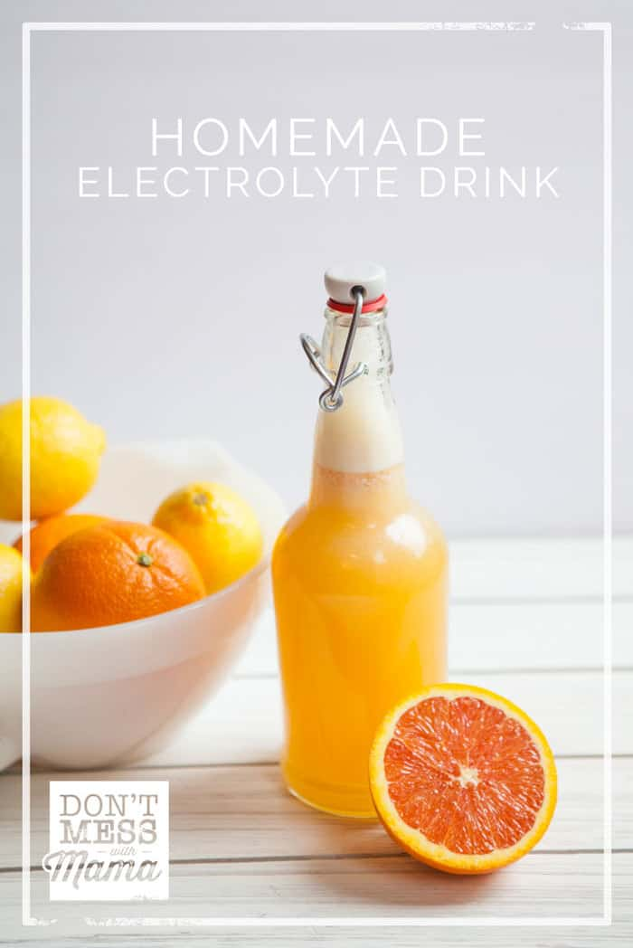 Got a cold or the flu? Need to rehydrate? Or play a lot of sports and looking for a healthy alternative? Try this Homemade Electrolyte Drink.
