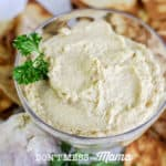 Sprouted Hummus Recipe - Make homemade hummus without the canned garbanzo beans. It's so easy and so much better for your digestive system - DontMesswithMama.com