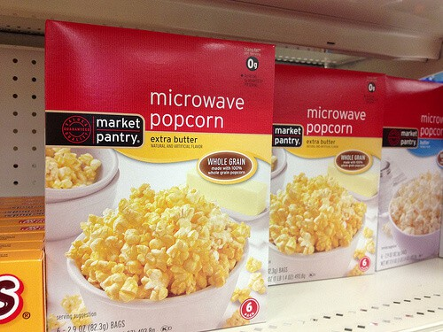 Microwave Popcorn on Shelf - read more for a healthy alternative