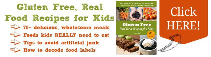 Gluten Free, Real Food Recipes for Kids banner - Tracey Black