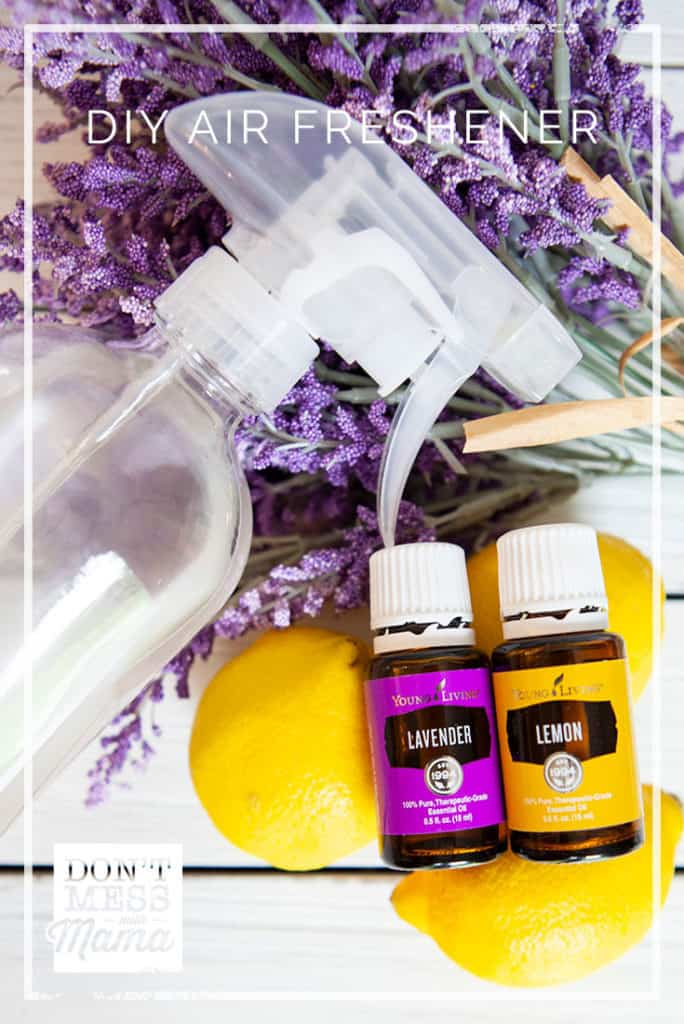 DIY Air Freshener Spray - make your own for pennies + no toxic chemicals like the store-bought air fresheners - DontMesswithMama.com