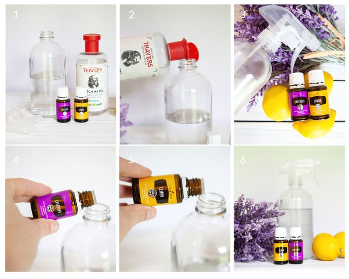 Step by step tutorial on how to make DIY Air Freshener Spray