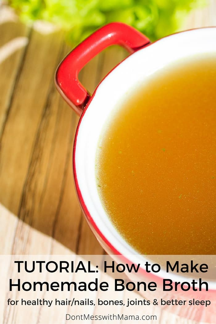 How To Make Homemade Broth. Learn how to make homemade broth or stock in this tutorial and learn the health benefits of bone broth for the body. It's so easy to make at home! #broth #stock #homemadebroth #dontmesswithmama