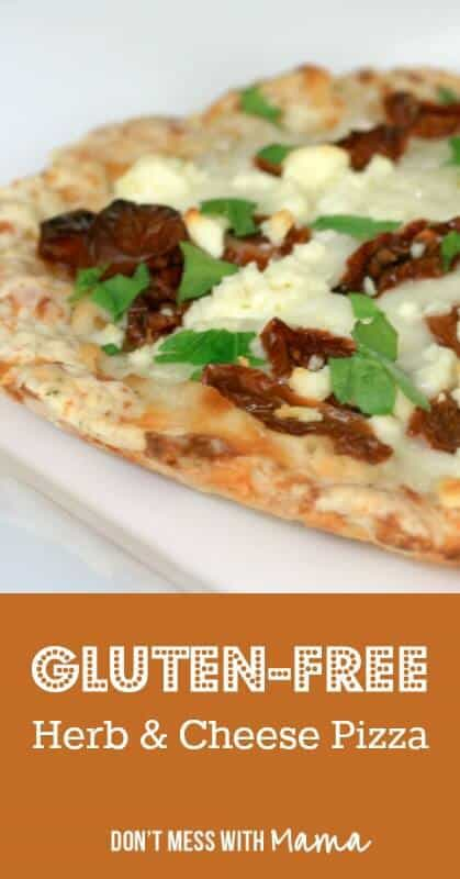 Gluten-Free Herb & Cheese Pizza (or Mini Pizzas for Kids) #glutenfree #recipes - DontMesswithMama.com