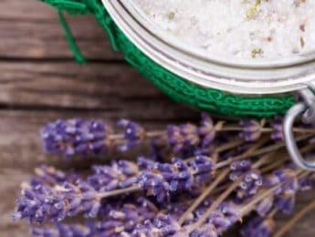 DIY Rosemary Lavender Body Scrub #diybeauty - DontMesswithMama.com