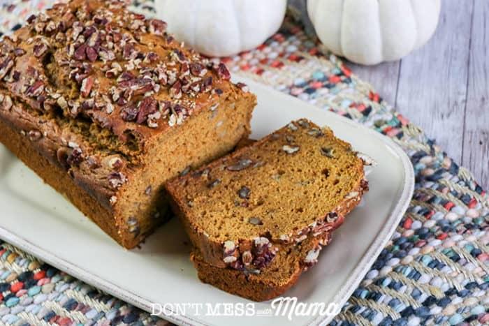 Gluten-Free Pumpkin Bread on table