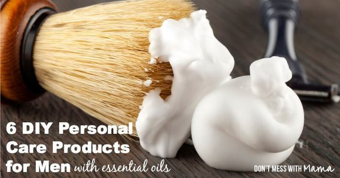 DIY Personal Care Products for Men with Essential Oils #DIY #essentialoils - DontMesswithMama.com