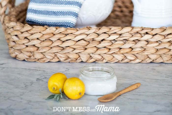 DIY Homemade Soft Scrub Cleaner for kitchens and bathrooms - so much cheaper to make your own without any toxic chemicals - DontMesswithMama.com
