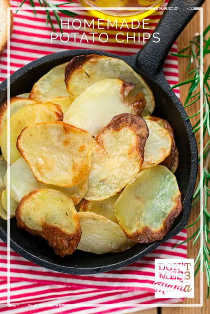 Homemade Potato Chips with Coconut Oil - DontMesswithMama.com