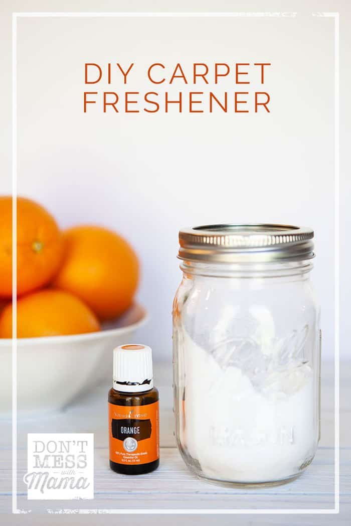 Got kids or pets? Deodorize your carpets naturally with this DIY Carpet Freshener made with just two ingredients.