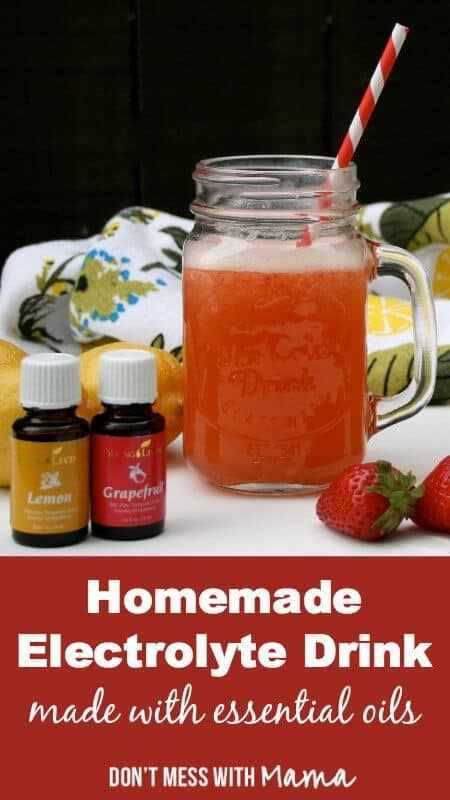 Homemade Electrolyte Sports Drink with essential oils - #homemade #DIY #energydrink - DontMesswithMama.com