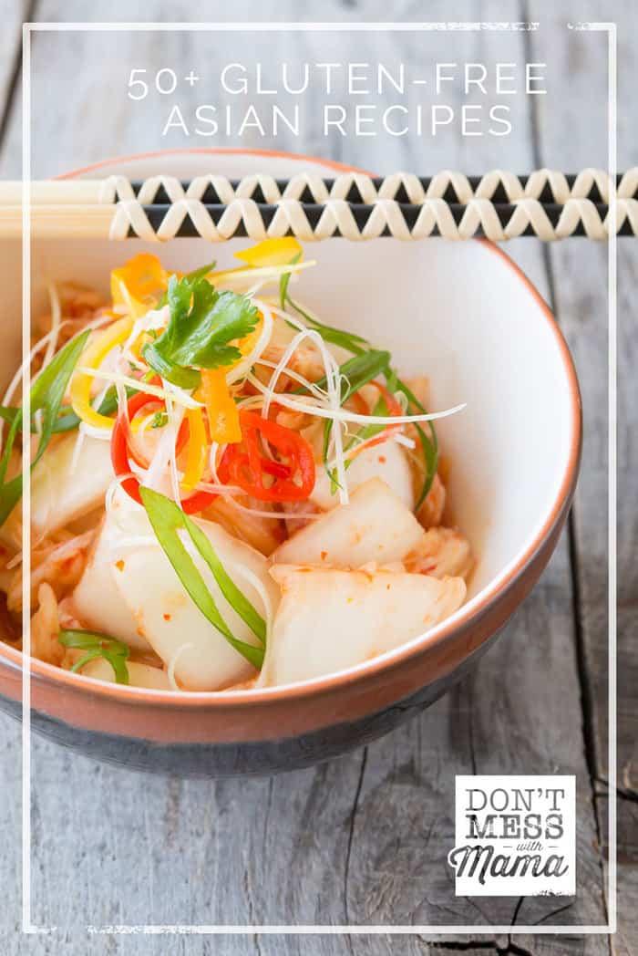 overhead shot asian dish