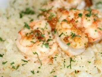 Paleo Shrimp & Grits - enjoy a remake of this classic Southern dish that's both Paleo and gluten free. It's also made with real food ingredients, so you can enjoy it anytime without the guilt. DontMesswithMama.com