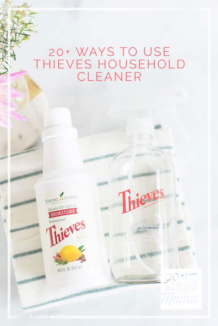 Step-by-step guide on how to use Thieves Household Cleaner (an all-purpose) cleaner. Check out these 20+ ways to clean your home with this one cleaner. This concentrate can be diluted for an all-purpose cleaner at just $0.67 a bottle.