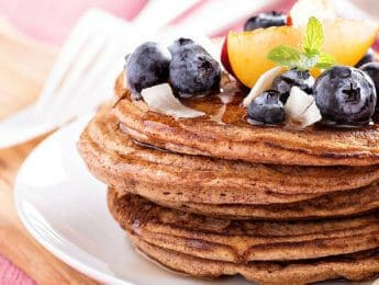 Gluten-Free Buttermilk Pancakes - make these for breakfast and some extra to store in the freezer to enjoy a quick, nutritious breakfast on the go - DontMesswithMama.com