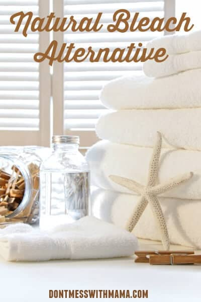 DIY Natural Bleach Alternative. How to make non toxic bleach alternative at home. #essentialoils #naturaliving #cleaning #diy #DontMesswithMama
