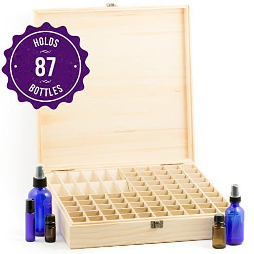 Essential Oil Wooden Storage Box - Top 20 Essential Oils Accessories and Supplies - DontMesswithMama.com