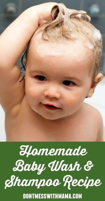 Natural Homemade Baby Wash and Shampoo #natural #baby #homemade #DIY - DontMesswithMama.com
