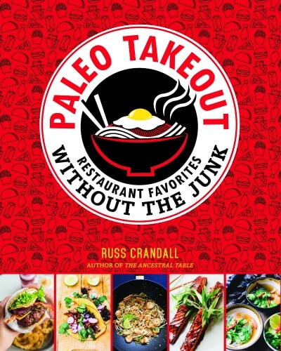 A cover of a Paleo takeout cookbook