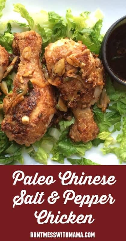 Chinese Salt and Pepper Chicken. A delicious and easy paleo recipe for Chinese salt and pepper chicken. The whole family will love this. dontmesswithmama.com #chicken #Chineserecipe #paleorecipe #dontmesswithmama