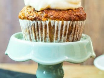 Gluten-Free Carrot Cake Muffins with Cream Cheese Frosting Recipe - DontMesswithMama.com