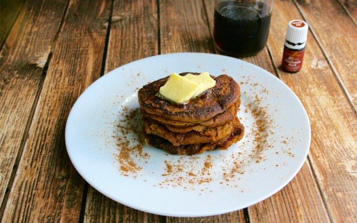 Einkorn Pumpkin Buttermilk Pancakes - great recipe for those who can tolerate gluten, but want to use this ancient wheat flour - DontMesswithMama.com