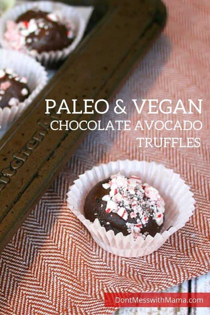 Deliciously Decadent Chocolate Avocado Truffles Recipe {Paleo, Vegan} - make these healthy sweet treats with just 3 ingredients - great for parties, bake sales or an after school snack - DontMesswithMama.com