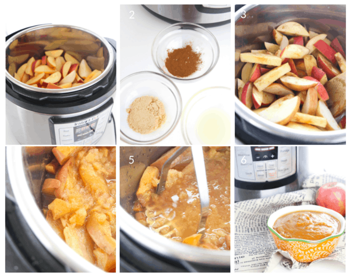 Step by step tutorial on how to make applesauce in an Instant Pot