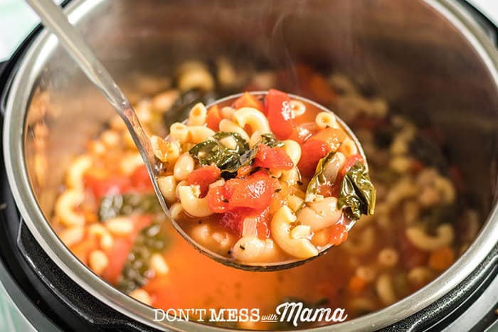 Minestrone soup recipe in an Instant Pot