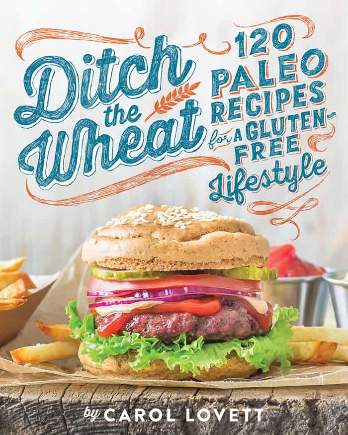 A cookbook cover for Ditch The Wheat Paleo recipes