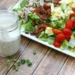 Cobb Salad with homemade blue cheese dressing - a real food makeover for this salad classic - DontMesswithMama.com